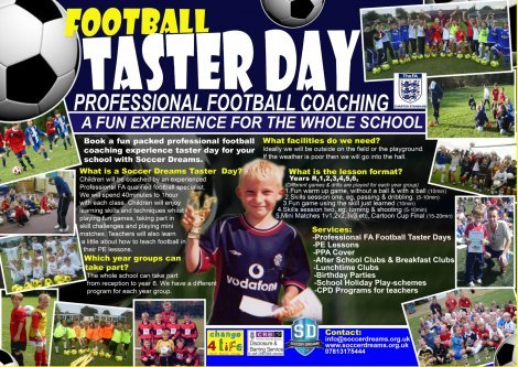 Professional Football Coaching Taster Day for Schools